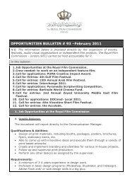 OPPORTUNITIES BULLETIN # 93 –February 2011 - The Royal Film ...