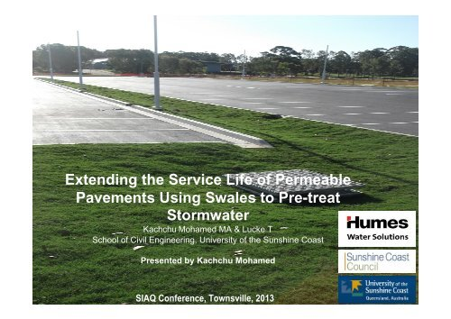 Extending the Service Life of Permeable Pavements Using Swales ...