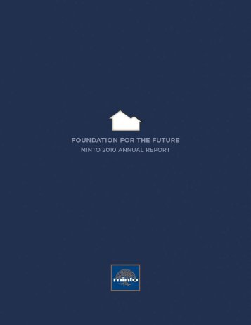 FOUNDATION FOR THE FUTURE - Minto