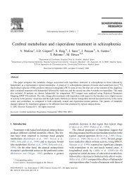 Cerebral metabolism and risperidone treatment in schizophrenia