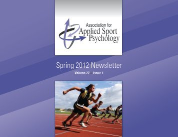Spring 2012 Newsletter - Association for Applied Sport Psychology