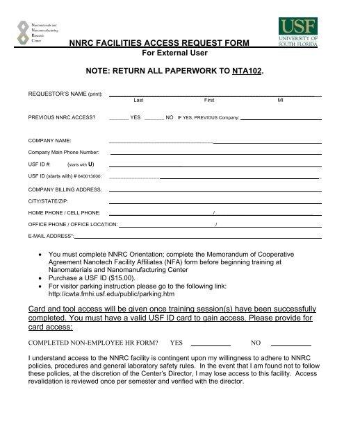 External Access Request Form