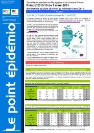 Point épidémiologique du 7 mars 2013 - ARS Bourgogne