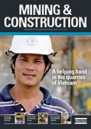 A helping hand in the quarries of Vietnam - Atlas Copco