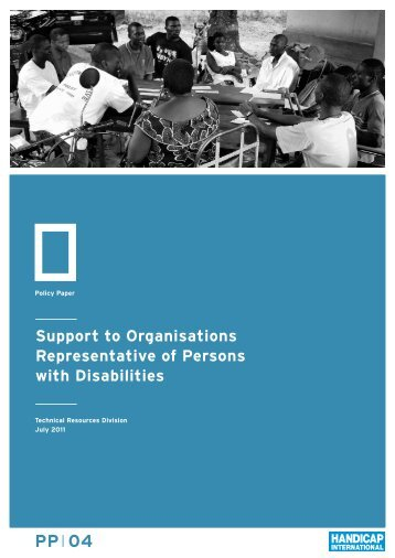 Support to Organisations Representative of Persons with Disabilities