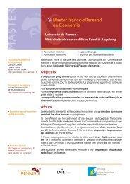 Augsburg Master Franco-allemand en Économie Master's Degree in ...