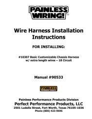 8 Circuit Universal Remote Mount / Modular Harness - Painless Wiring