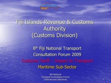 Customs Division - Transport Planning Unit