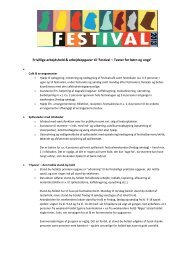 Læs mere om de frivillige teams og arbejdsopgaver her - Aprilfestival