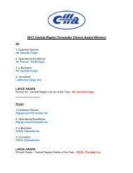 Central Region 2013 FCA Winners - CIFFA.com