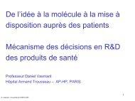 Mécanismes de la décision en R & D des produits de santé