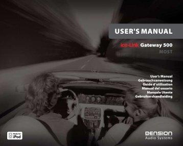 Uso del ice>Link Gateway 500 - Novosonic