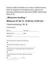 Mittwoch 07.08.13, 10:00 bis 19:00 Uhr - Infoportal Köln Ostheim + ...
