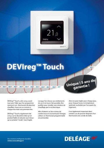 DEVIreg™ Touch - DEVI iFrame France - Danfoss