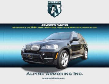 ARMORED BMW X5 - Alpine Armoring Inc.