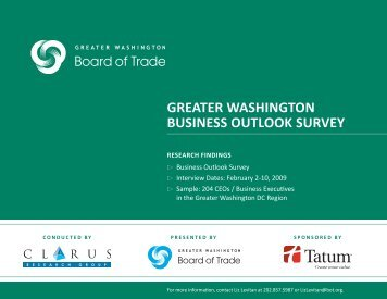 2009 Greater Washington Business Outlook Survey - Commercial ...