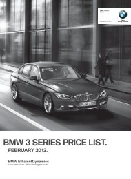 BMW 3 SERIES PRICE LIST. - sabeemer.co.za