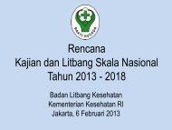 Rencana Kajian dan Litbang Skala Nasional ... - Badan Litbangkes