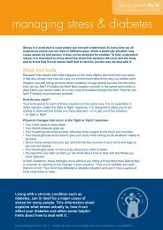 managing stress & diabetes - Diabetes Queensland