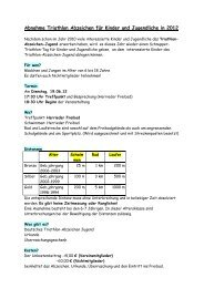 Abnahme Triathlon Abzeichen für Kinder und Jugendliche in 2012