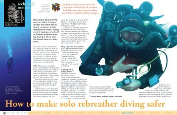 Solo Diving on a rebreather - X-Ray Magazine