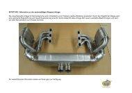 997GT3 RS / Alternative zu der serienmäßigen Klappen-Anlage Die ...