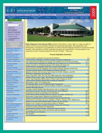 Catalog - Alpha Diagnostic International Inc.