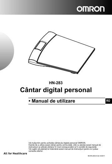 HN-283 Cântar digital personal - Omron Healthcare