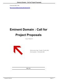 Eminent Domain : Call for Project Proposals - Sklunk