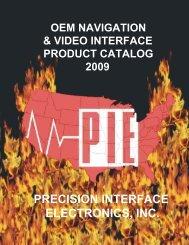 PRECISION INTERFACE ELECTRONICS, INC. - AM Distributors