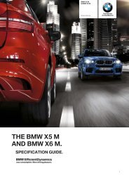 X5 M and X6 M Dealer Specification Guide - Canterbury BMW