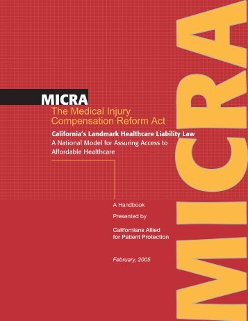 A Handbook on - Californians Allied for Patient Protection
