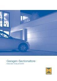Einbaudaten: Hörmann Garagen-Sectionaltore