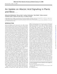 An Update on Abscisic Acid Signaling in Plants ... - Molecular Plant