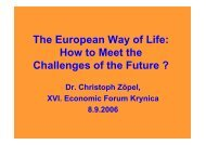 The European Way of Life: How to Meet the Challenges of the Future ...