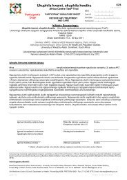 Participant Signature Sheet - Receive ARV Treatment and Care