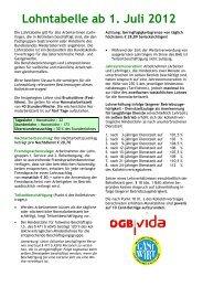 Gehaltstabelle ab 1. Juli 2012 - Wirtschaftskammer Österreich