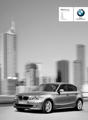 BMW Price List September 2005 - 1 Series Sports Hatch (5-door)