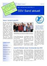 Magazin SSV Sand aktuell - Augabe 2011-1 - SportOn
