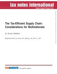 The Tax-Efficient Supply Chain: Considerations for ... - Corit Academic