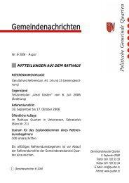 Gemeindenachrichten - Gemeinde Quarten