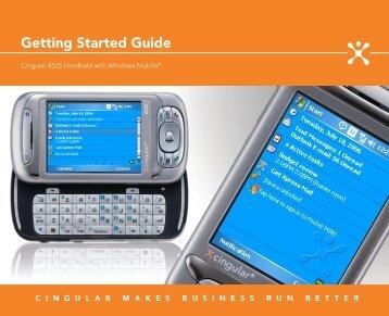 Cingular 8525 Getting Started Guide - Pocket PC Central