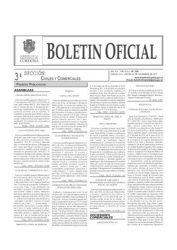 3ªSECCIÓN: - Boletín Oficial de la Provincia de Córdoba