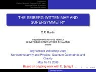 the seiberg-witten map and supersymmetry - Particle Physics Group