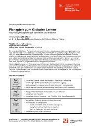 Planspiele zum Globalen Lernen - BenE – München