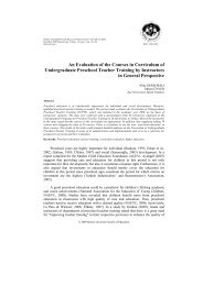 An Evaluation of the Courses in Curriculum of Undergraduate ...