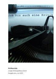 Kritikerclub - Junges Schauspielhaus Zürich