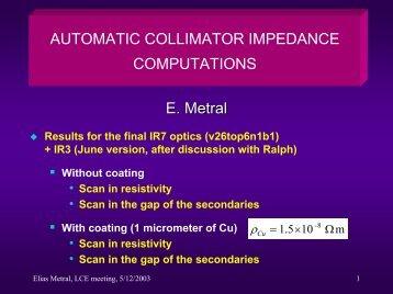Collimator Impedance