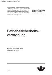 BetrSichV Betriebssicherheitsverordnung