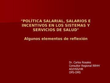 """""""POLÍTICA SALARIAL, SALARIOS E INCENTIVOS EN LOS ..."""
